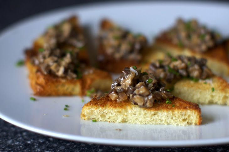 Creamed Mushrooms On Chive Butter Toast Recipes — Dishmaps