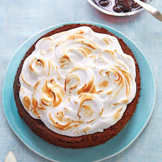 Flourless Chocolate-Almond Torte with Cherry Preserves and Kirsch Meringue