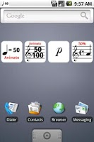 Screenshot of Musical Battery Widget