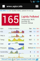 Screenshot of Chengdu Air Quality 成都空气质量
