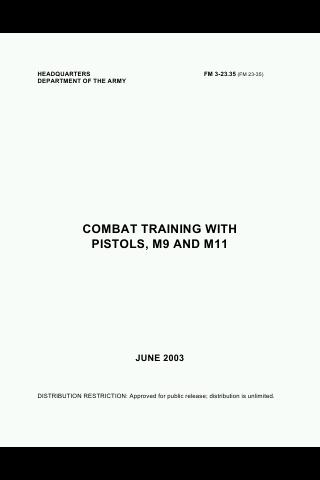 US Army Combat Training Pistol