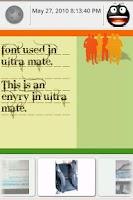Screenshot of Ultra Mate Journal fonts 3