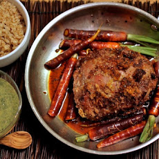 Dijon Crusted Lamb Roast with Mint Sauce