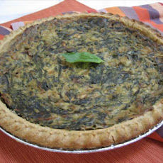 Diz's Best Spinach Quiche Ever! (Vegan)