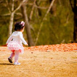 Walkaway by Chittal Pujara - Babies & Children Children Candids ( walking, park, land, baby girl, trees )