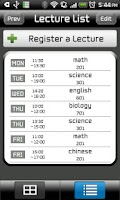 Screenshot of Smart TimeTable