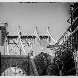 Manhattan Bridge by Robert Peterson - Buildings & Architecture Bridges & Suspended Structures ( manhattan, bridge, new york )