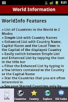 Screenshot of WorldInfo - World Information