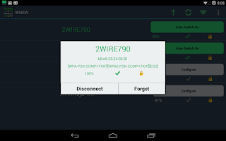 Screenshot of Wifi Network Switcher Widget