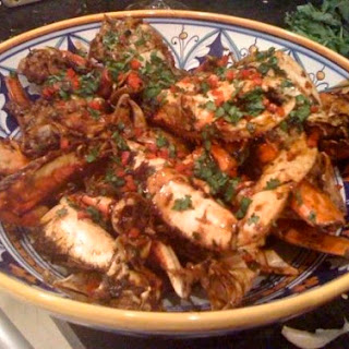 Chili Crab with Garlic Noodles
