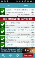 Screenshot of Tankinator - Billig Tanken