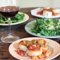 Sea Scallops with Fresh Cherries and Tarragon