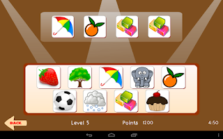 Screenshot of Memory Game For Adults.