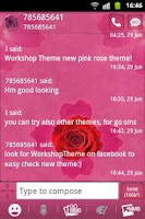 Screenshot of GO SMS Theme Pink Rose Cute
