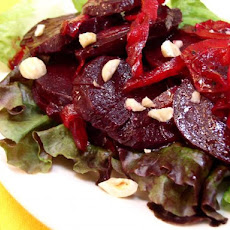 Balsamic Baked Beets with Red Onions & Hazelnuts