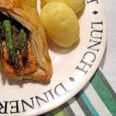 Salmon and Asparagus 'almost En Croute'