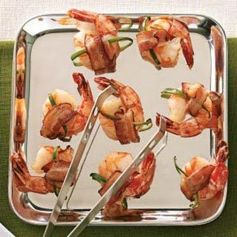 Bacon-Wrapped Shrimp Cocktail With Apricot Horseradish ...