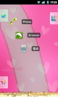 Screenshot of keeworld Theme: Girls Pink