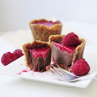 Mini Raspberry Chocolate Cakes