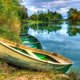The boat on dry land by Oliver Švob - Transportation Boats ( canon, korana, europe, karlovac, riverside, fisherman boat, croatia, boat, river thames, river )