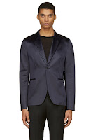 Paul Smith Dark Navy Satin Blazer