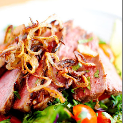 Grilled Thai Beef Salad with Crispy Shallots