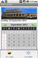 Screenshot of Italy Calendar 2012-2013
