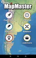 Screenshot of MapMaster - Geography game