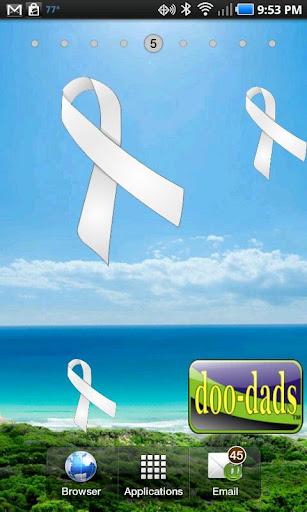 White Pearl Ribbon doo-dad