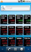 Screenshot of World Stock Alert Widget