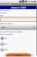 Screenshot of Amsure GMIP