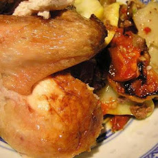 Chicken Roasted with Tomatoes, Potatoes, and Olives