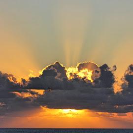 Rey by Rick Blakeley - Landscapes Cloud Formations ( cloud formations, sunset, pacific ocean, clouds and sea, cloudscape )