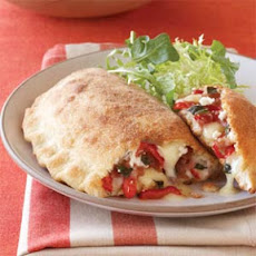 Red Pepper, Fontina, and Prosciutto Calzones
