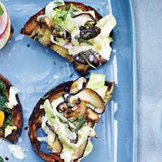 Cabbage-and-Mushroom Toasts