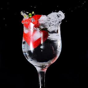 Strawberry Ice Splash by Sarath Sankar - Food & Drink Fruits & Vegetables
