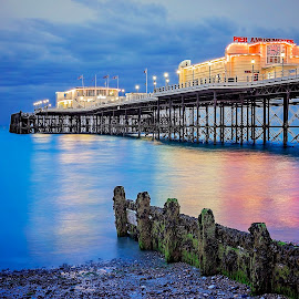 Worthing Pier by Jose Rabina - Landscapes Beaches