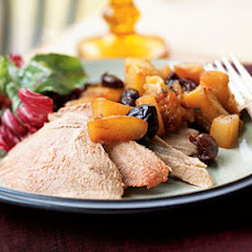 Roasted Duck with Roasted Fruit Compote