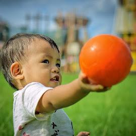 give me the ball by Darlis Herumurti - Babies & Children Children Candids