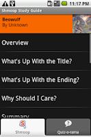 Screenshot of Beowulf: Shmoop Guide