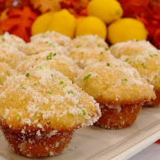 Lemon Mini Muffins with Lime-Scented Sugar