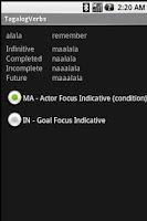 Screenshot of TagalogVerbs