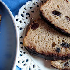 White Chocolate Iced Cranberry Bread