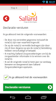 Screenshot of Salland declaratie App