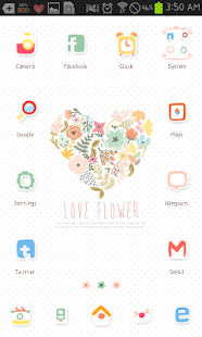 How to download Love Flower go launcher theme 1.2 mod apk for pc