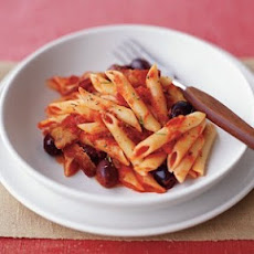 Penne With Bacon and Black Olives