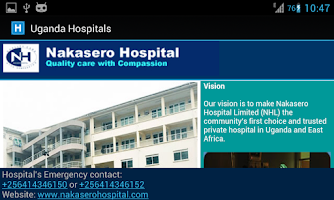 Screenshot of Uganda Hospitals