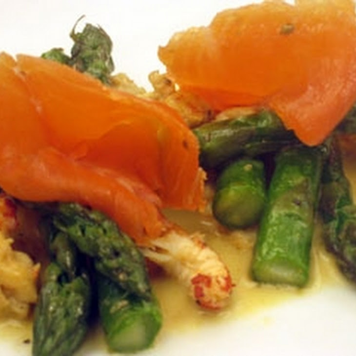 Cured Sea Trout With Crayfish And Asparagus Recept | Yummly