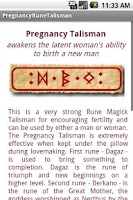 Screenshot of Pregnancy Talisman Widget