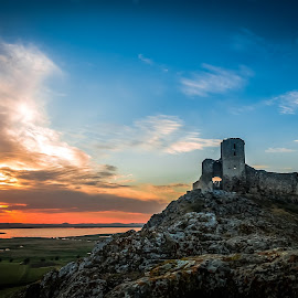 Castle at sunset by Lupu Radu - Buildings & Architecture Statues & Monuments ( enisala, dobrogea, castle,  )